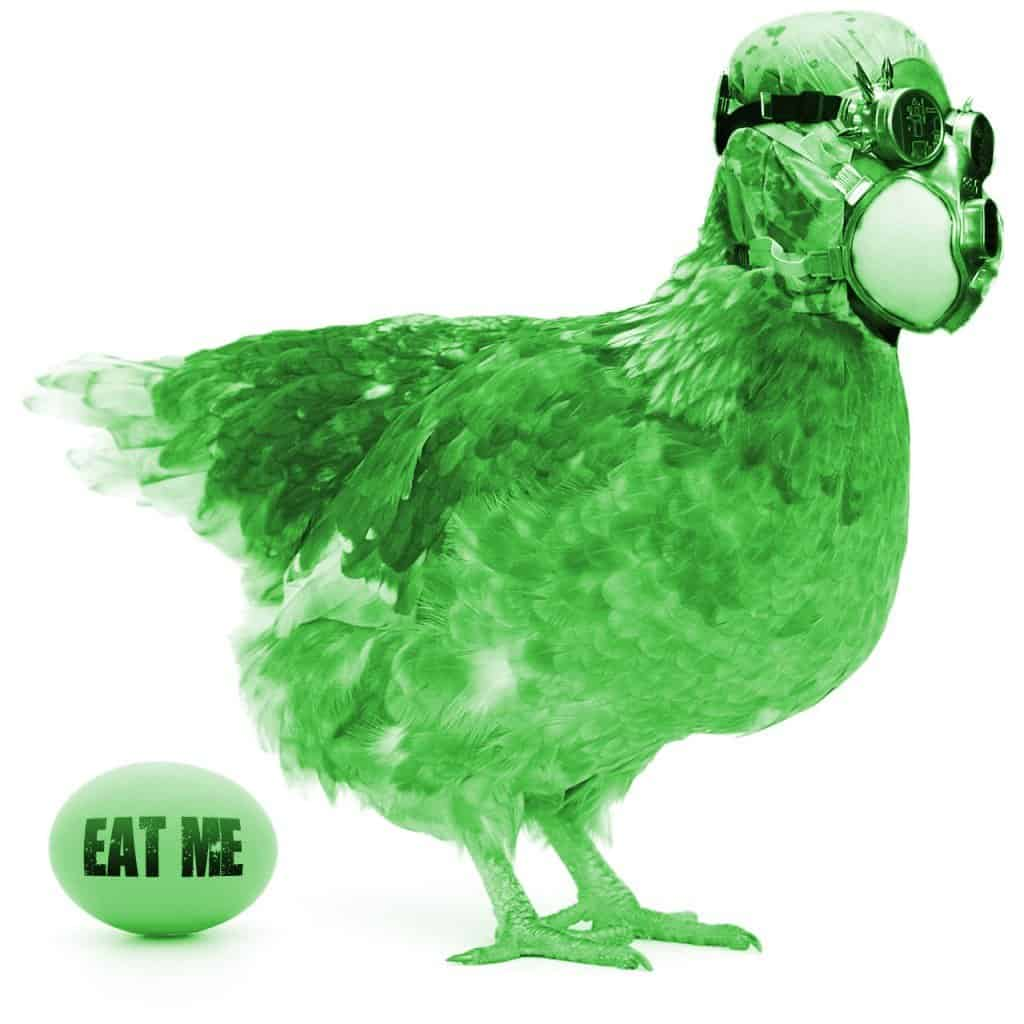 Green eggs for easter