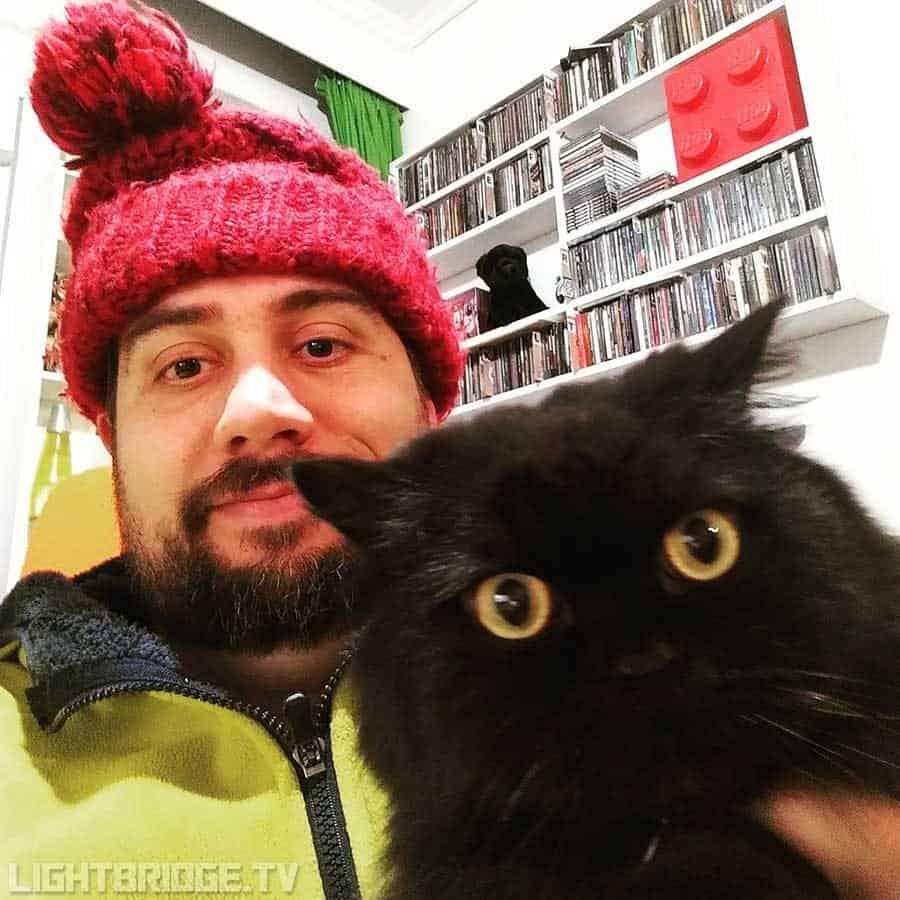 It's cold again, hug a black cat